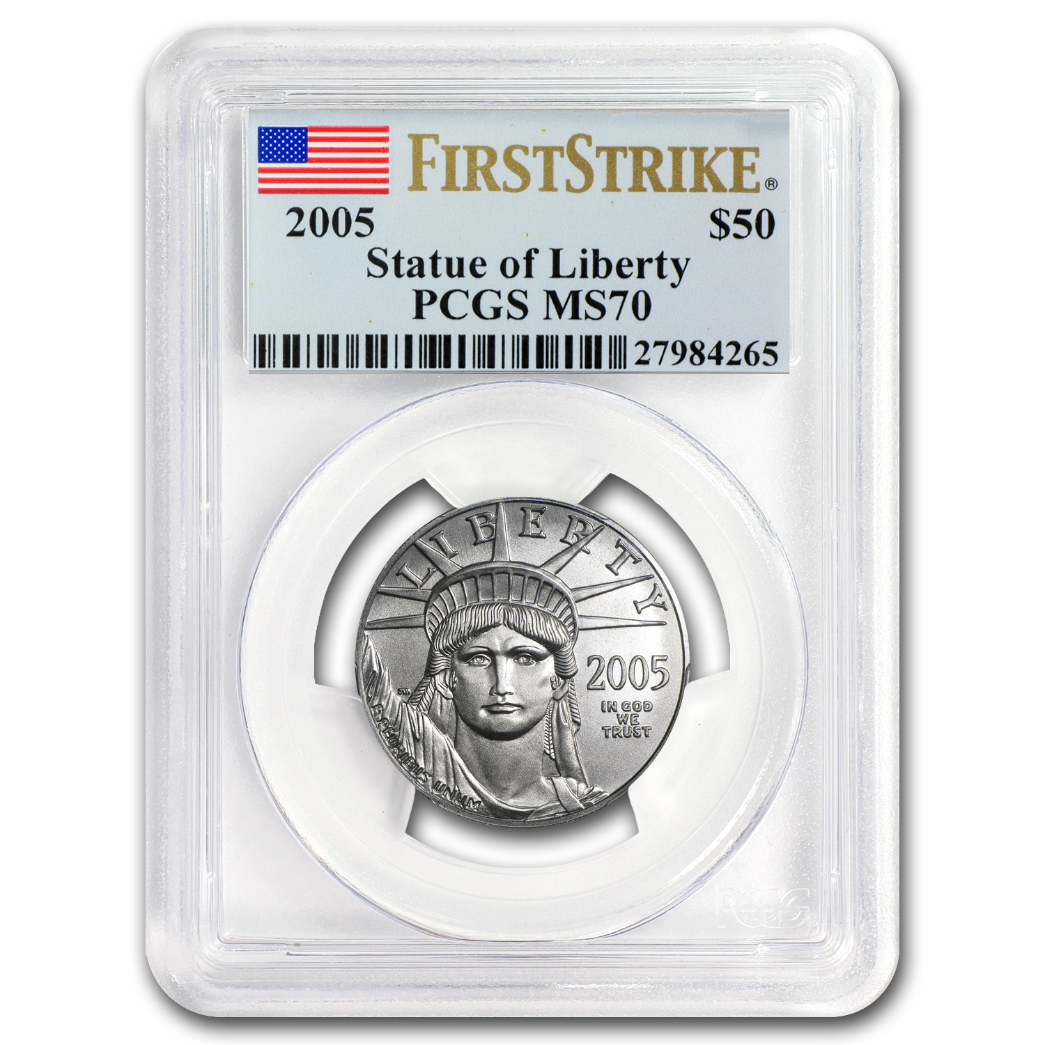2005 4-Coin Platinum American Eagle Set MS-70 PCGS (First Strike)